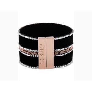 Guess Black Velvet Wrap Bracelet